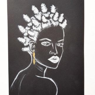 Loving My Hair - originaux sur papier noir